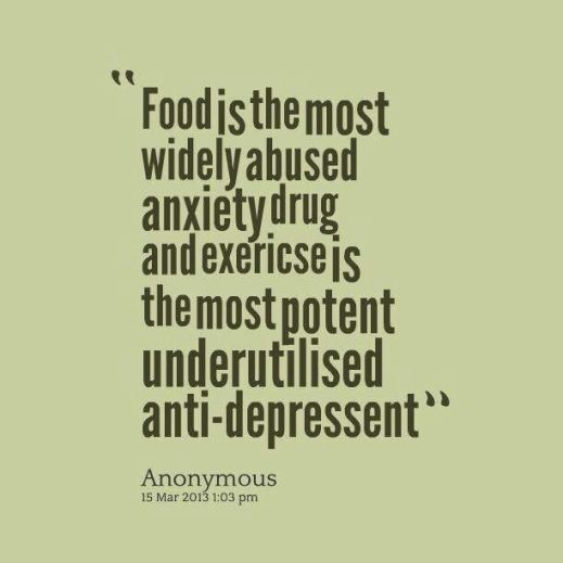 quote about food and exercise